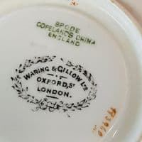 Copeland Spode - Waring & Gillow - Floral - Milk Jug and Open Sugar